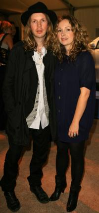 Beck and his wife Marissa Ribisi at the Whitley Kros Spring 2008 fashion show after party.