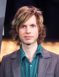 Beck at the MTV Times Square studio.