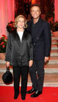 Silvia Verdone and Christian de Sica at the 4th International Rome Film Festival Opening Party.