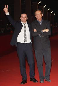 Director Brando de Sica and Christian de Sica at the premiere of