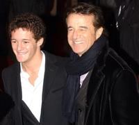 Brando and Christian de Sica at the Italian premiere of
