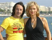 Jean-Hugues Anglade and Veronica Ferres at the German TV series