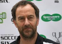 Angus Deayton at the London edition of the Annual fundraising tournament Music Industry Soccer Six.