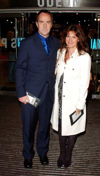 Angus Deayton and Lise Maye at the world premiere of