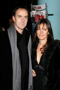 Angus Deayton and Lise Mayer at the UK premiere of