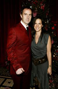 Angus Deayton and his girlfriend Lisa at the aftershow party of the premiere of