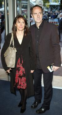 Lise Mayer and Angus Deayton at the UK premiere of