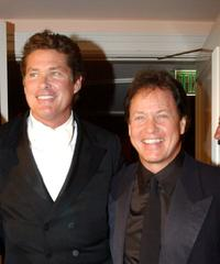 David Hasselhoff and Rick Dees at the 11th Annual Night of 100 Stars Gala.