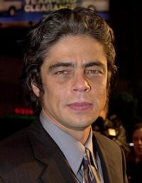 "Benicio Del Toro at the premiere of ""The Pledge"" in Hollywood."