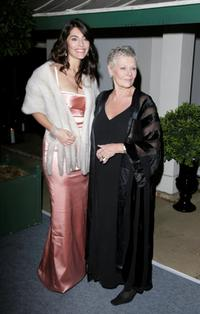 Judi Dench and Caterina Murino at the Casino Royale After Party.