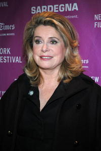 Actress Catherine Denevue at the N.Y. premiere of