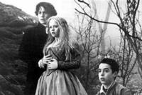 Johnny Depp as Ichabod Crane, Christina Ricci as Katrina Van Tassel and Marc Pickering as Young Masbeth in ``Sleepy Hollow.''