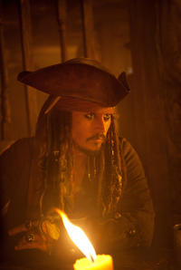 Johnny Depp as Captain Jack Sparrow in