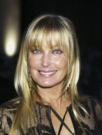 Bo Derek at the reception for the United Service Organizations (USO) annual gala.