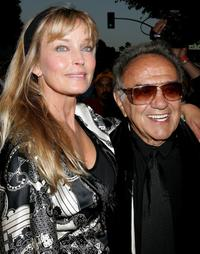 Bo Derek and George Barris at the Friars of Beverly Hills celebrity fundraiser dinner gala.