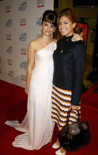 Penelope Cruz and Eva Mendes at the tribute to Penelope Cruz screening of
