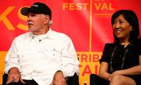 Bruce Dern and Janice Min at the 2007 Tribeca Film Festival.