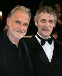 Bela Tarr and Janos Derzsi at the 60th edition of the Cannes Film Festival.