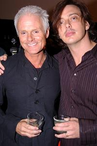 Michael Des Barres and Donovan Leitch at the grand opening party of Chrome Hearts clothing and fashion accessories store.