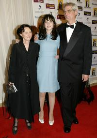 Mary Jo Deschanel, Zooey Deschanel and Caleb at the Hollywood Awards Gala.