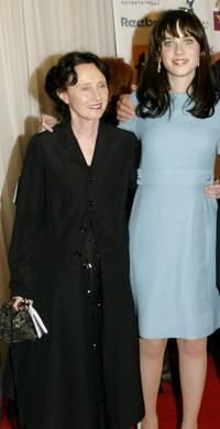 Mary Jo Deschanel and Zooey Deschanel at the Hollywood Awards Gala.