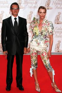 Maruschka Detmers and her husband at the 44th Monte-Carlo Television Festival.