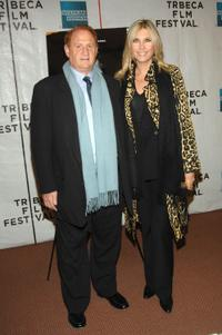 Mike Medavoy and Irena at the premiere of