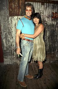 Ronn Moss and Devin DeVasquez at the Corey Feldman's 35th birthday bash.