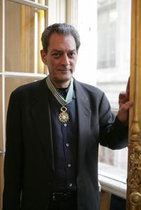 Paul Auster at the French Cultural Services building in New York.