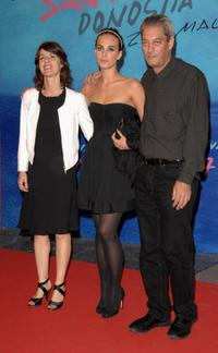Irene Jacob, Sophie Auster and Paul Auster at the premiere of
