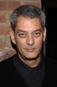 Paul Auster at the benefit