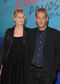 Siri Hustved and Paul Auster at the closing ceremony of 55th San Sebastian International Film Festival.