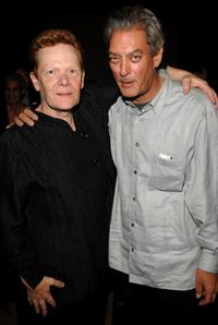 Philippe Petit and Paul Auster at the private screening of