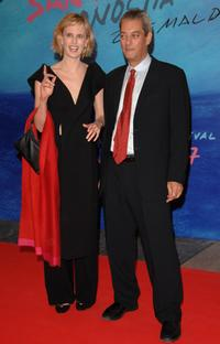 Siri Hustved and Paul Auster at the 55th San Sebastian Film Festival Opening Night.