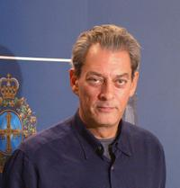 Paul Auster at the press conference in Oviedo.