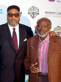 Producer Kenny Gamble and Clarence Avant at the Sony Club in New York.