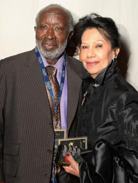 Clarence Avant and Jackie at the Recording Academy's Special Merit Awards ceremony in California.