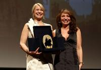 Trine Dyrholm and Susanne Bier at the Closing Awards Ceremony during the 5th International Rome Film Festival.