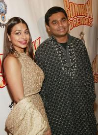 Ayesha Dharker and A. R. Rahman at the opening night after party of