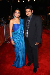 Ayesha Dharker and Manish Acharya at the premiere of
