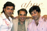 Bobby Deol, Dharmendra and Sunny Deol at the promotional programme of