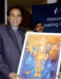 Dharmendra at the function in New Delhi.