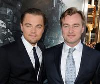 Leonardo DiCaprio and Christopher Nolan at the California premiere of
