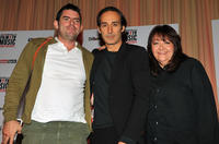 Director Chris Weitz, Alexandre Desplat and Doreen Ringer Ross at the THR and Billboard Film's TV Music Conference Day 1.