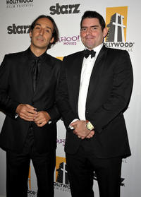 Alexandre Desplat and director Chris Weitz at the 13th Annual Hollywood Awards Gala Ceremony.