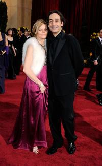 Alexandre Desplat and Guest at the 81st Annual Academy Awards.