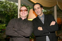 Danny Elfman and Alexandre Desplat at the Society of Composers & Lyrics Pre-Oscar Champagne Reception.