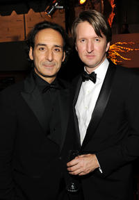 Alexandre Desplat and director Tom Hooper at the after party of Relativity Media and The Weinstein Company's 2011 Golden Globe Awards.