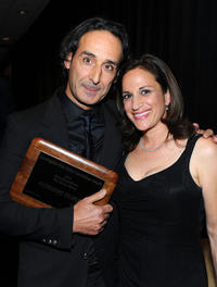 Alexandre Desplat and Lael Loewenstein at the 36th Annual Los Angeles Film Critics Association Awards.