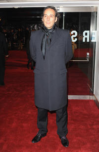 Alexandre Desplat at the American Express Gala screening of